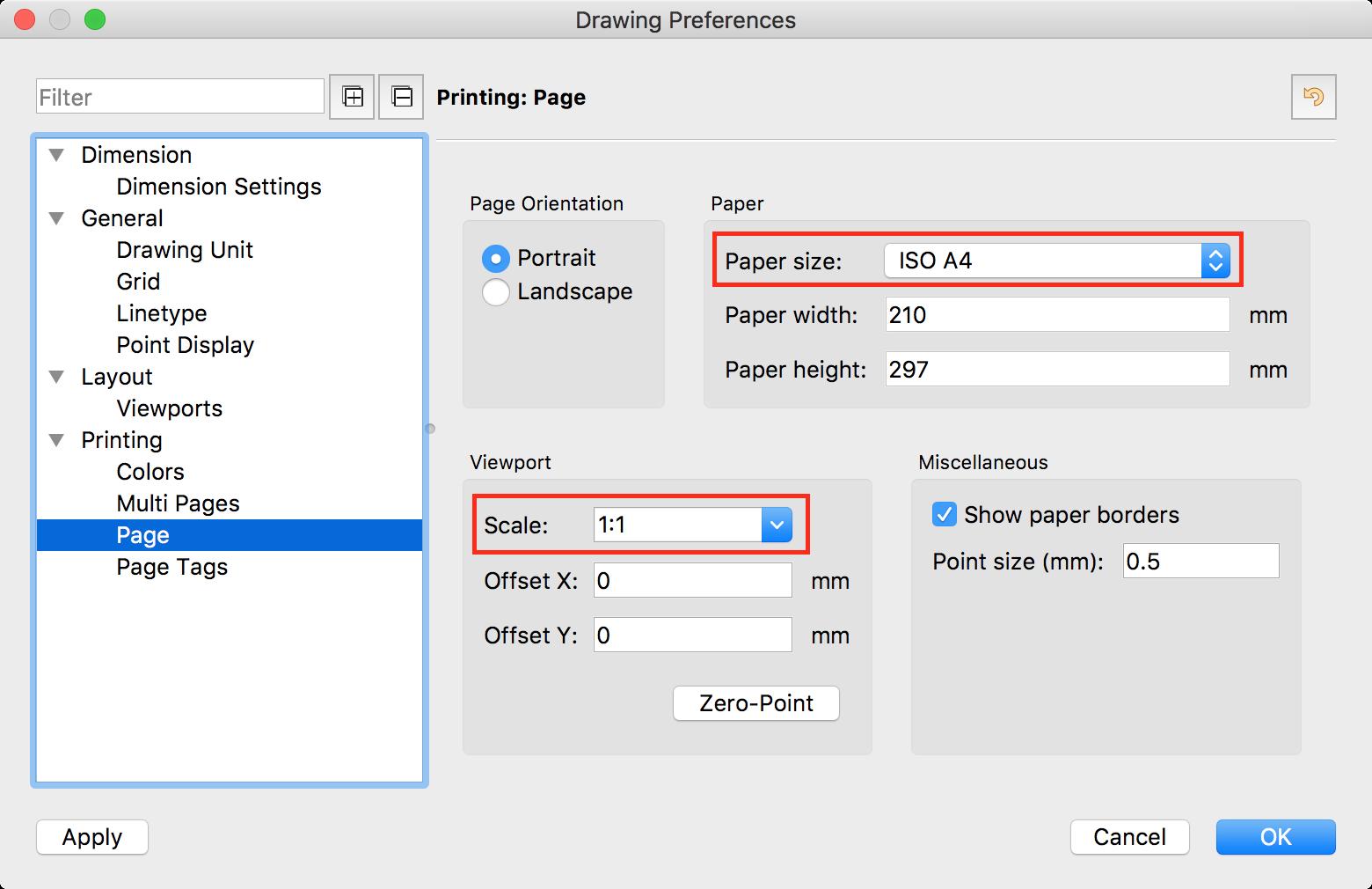 QCAD - Tutorial: Printing