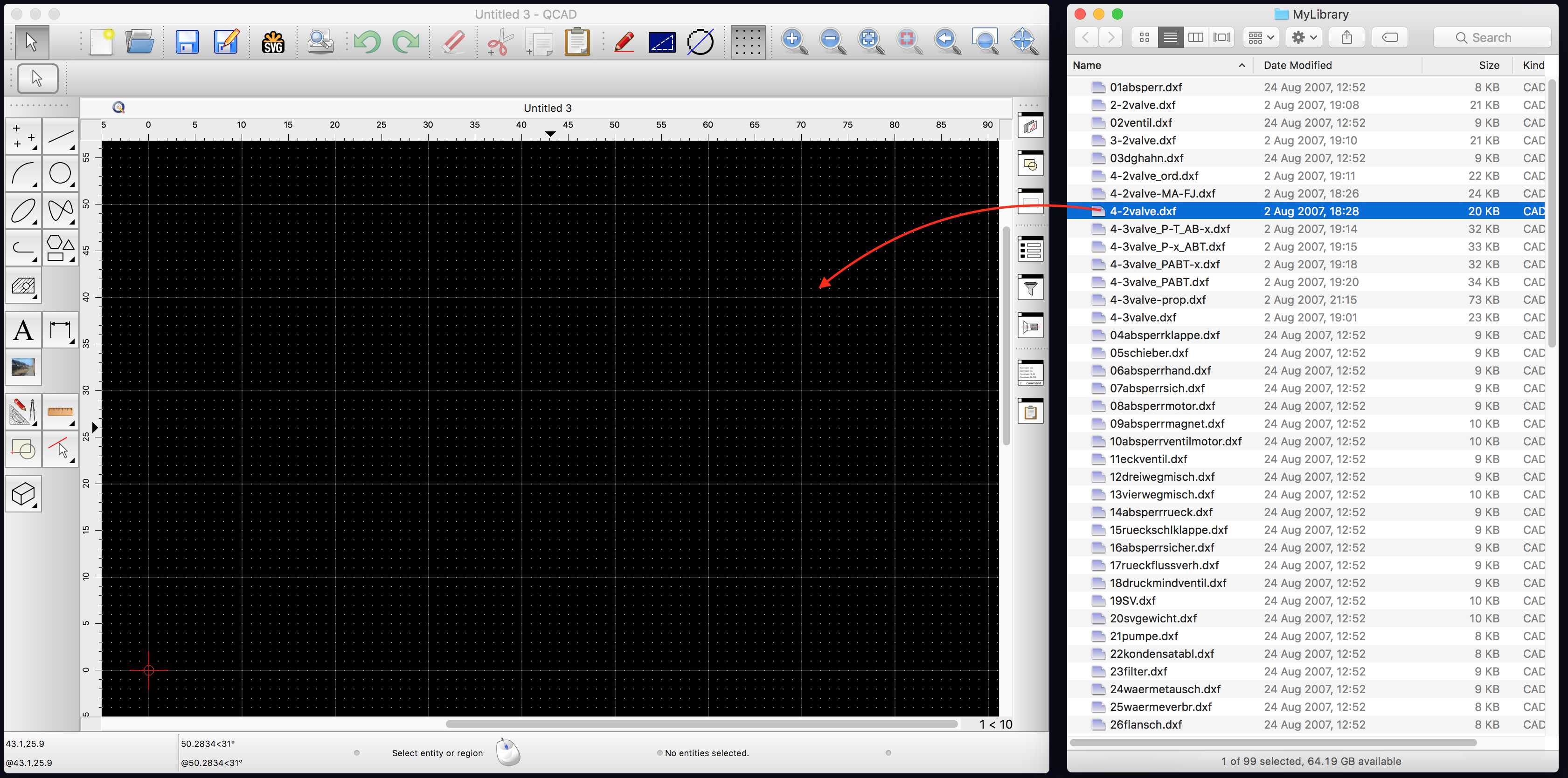 QCAD - Tutorial: Working with the Part Library