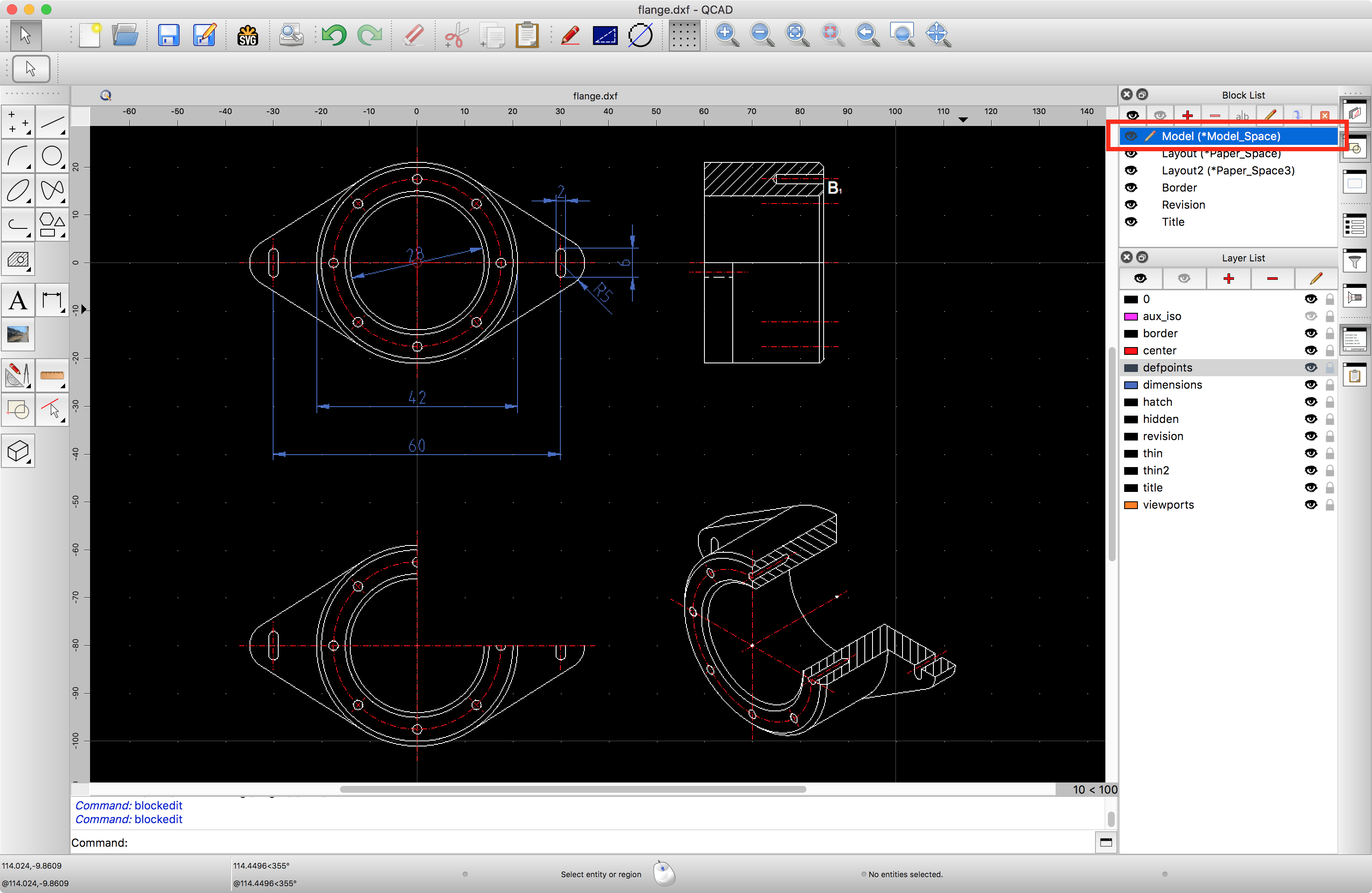 QCAD - Tutorial: Working with Layout Blocks and Viewports
